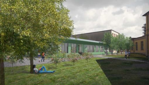 Il nuovo liceo scientifico, luminoso e immerso nel verde - foto