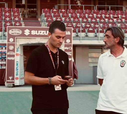 Vincenzo La Marca con il tecnico Modesto