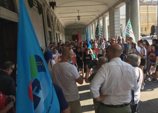 La manifestazione che era stata organizzata durante il consiglio comunale di luglio
