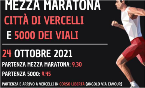 Tornano la Mezza Maratona e la 5 Km: Vercelli punta sul podismo