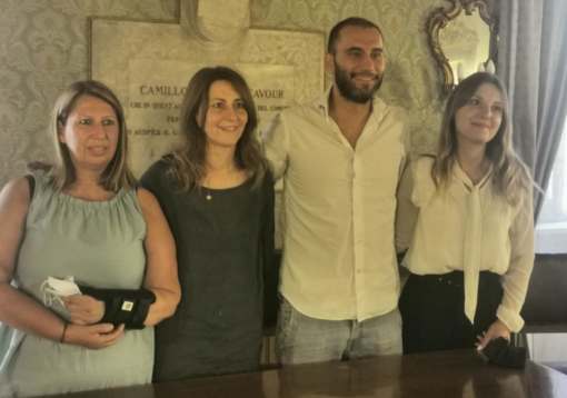 Da sinistra: Deborah Manzo, Elisabetta Borgia, Daniele Pane e Giulia Rotondo