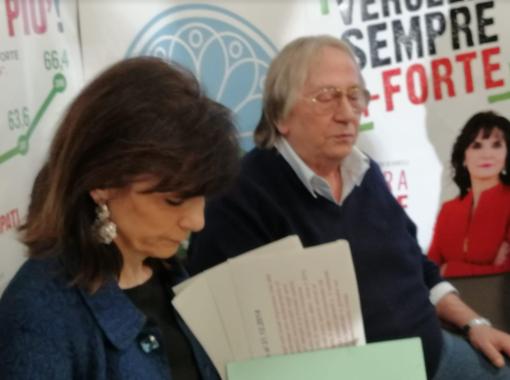 Il sindaco Maura Forte e l'assessore Andrea Coppo, capolista