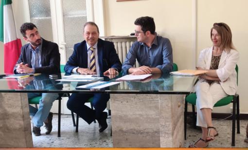 Da sin: Emanuele Pozzolo, Andrea Corsaro, Alberto Marazzato e Ketty Politi