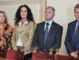 Da sinistra: Ombretta Olivetti, Patrizia Evangelisti, Maurizio Tascini e il segretario comunale