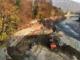 I lavori di rifacimento delle protezioni sul fiume