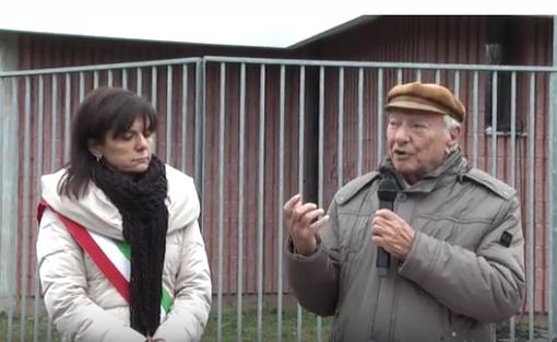 Piero Angela insieme al sindaco Maura Forte