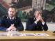 Da sin. Sergio Papulino, dirigente della Mobile, e il sovrintendente capo Massimo Pietro Caron