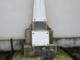 La stele posta all'interno dello stadio Piola