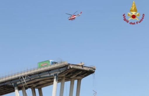 Un anno fa il crollo del Ponte Morandi, bandiere a mezz'asta a Palazzo Lascaris