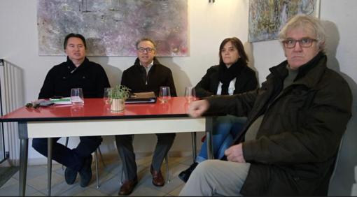Pedrale, Sereno, Aloi e Ganzaroli alla conferenza stampa