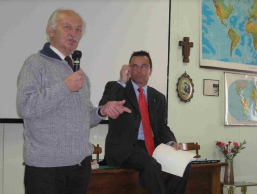 Pio Preti in una foto con Gianluca Buonanno