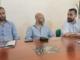 Il sindaco Daniele Pane, Max Osenga (Aoct) e l'assessore Roberto Gualino