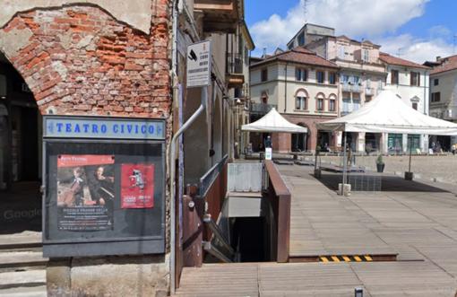 L'ingresso dei servizi igienici di piazza Cavour