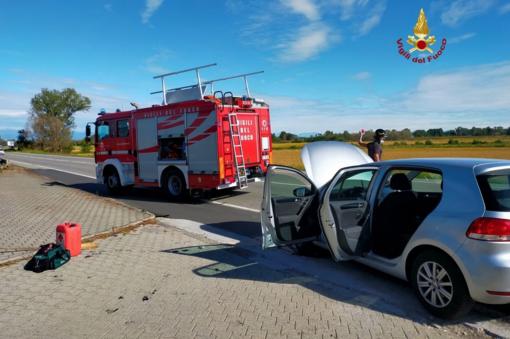 Violento scontro a Quinto: danni alle auto, ma conducenti salvi