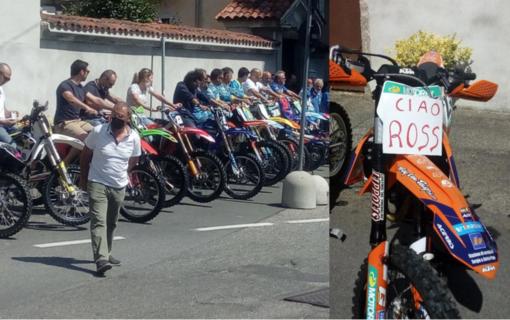 «Ciao Rosso...»: il ruggito delle moto per l'addio a Rossotto