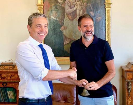 Passaggio di consegne tra Carlo Riva Vercellotti e Alessandro Montella