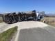 Bilico di sale si ribalta. Strada chiusa al traffico tra San Giacomo del Bosco e Rovasenda