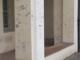 La zona del chiostro di San Pietro, fortemente compromessa dai vandali