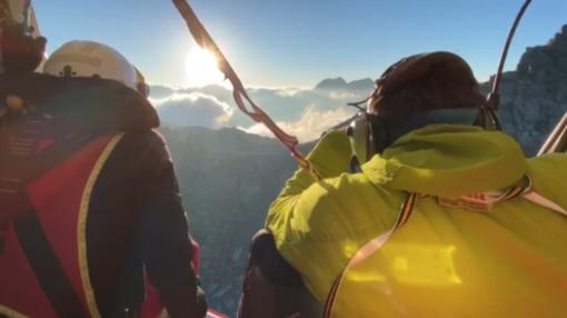 Le ricerche dei due alpinisti