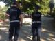 Gli agenti in servizio nei parchi cittadini di Santhià