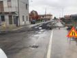 Saluggia, strada danneggiata dal maltempo