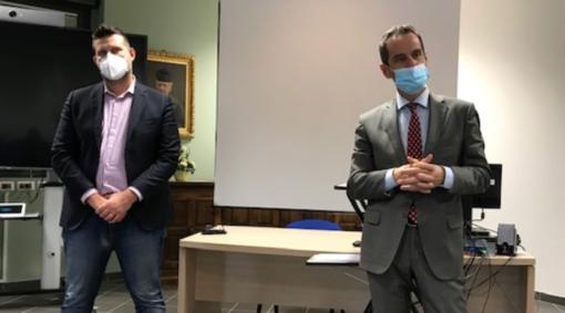 Il sindaco Paolo Tiramani e il manager Angelo Penna