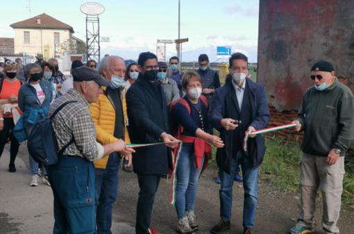 In cammino tra risaie allagate e cascine: inaugurato il nuovo percorso della Via Francigena - FOTO