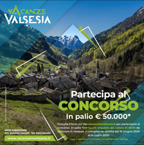 VacanzeInValsesia: più di 15mila partecipanti. Estrazione dei buoni da 500 euro