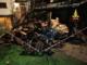 Rogo nella notte: distrutta una legnaia
