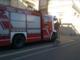 Il mezzo dei Vigili del Fuoco in piazza Amedeo IX