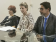 Cristina Canziani tra gli assessori Gianna Baucero e Domenico Sabatino