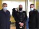Da sin: Gualtiero Canova (direttore sanitario) e il tenente colonnello Andrea Ronchey (comandante provinciale dell'Arma) e il manager Angelo Penna