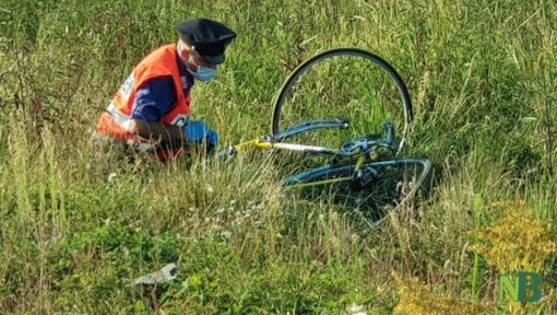 Ciclista finisce in un fosso a Villanova