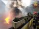 A fuoco il magazzino di una sfilacciatura - FOTO