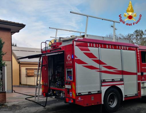 Principio di incendio in via Zamenhof